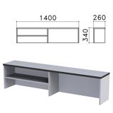 Надстройка для стола письменного «Монолит», 1400×260×340 мм, 1 полка, цвет серый