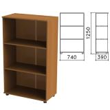 Шкаф (стеллаж) «Монолит», 740×390×1250 мм, 2 полки, цвет орех гварнери