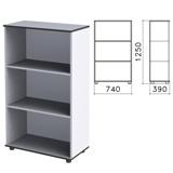 Шкаф (стеллаж) «Монолит», 740×390×1250 мм, 2 полки, цвет серый