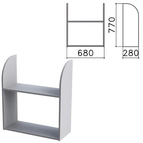 Полка навесная настенная «Монолит», 680×280×770 мм, цвет серый, ПМ40.11