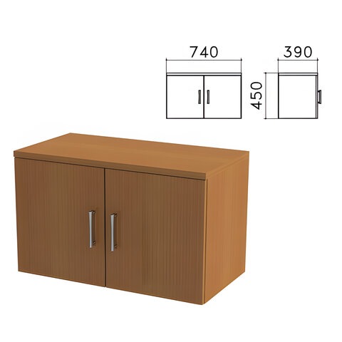 "Шкаф-антресоль ""Монолит"", 740х390х450 мм, цвет орех гварнери, АМ01.3"