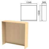 Стойка ресепшн прямая «Монолит», 1245×360×1220 мм, цвет бук бавария, РМ17.1