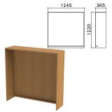 Стойка ресепшн прямая «Монолит», 1245×360×1220 мм, цвет орех гварнери, РМ17.3