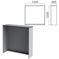 Стойка ресепшн прямая «Монолит», 1245×360×1220 мм, цвет серый, РМ17.11