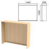 Стойка ресепшн прямая «Монолит», 1445×360×1220 мм, цвет бук бавария, РМ18.1