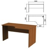 Стол письменный эргономичный «Эко», 1400×900×740 мм, правый, орех