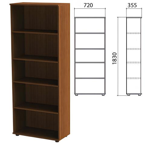 Шкаф (стеллаж) «Эко», 720×355×1830 мм, 4 полки, орех