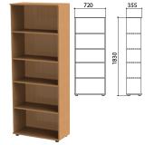 Шкаф (стеллаж) «Эко», 720×355×1830 мм, 4 полки, бук бавария