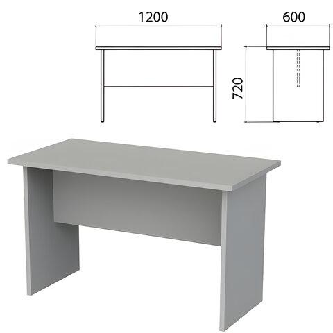 """Стол приставной """"Этюд"""", 1200х600х720 мм, серый"""