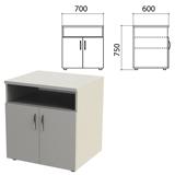Тумба для оргтехники «Этюд», 700×600×750 мм, 2 двери, полка, серый