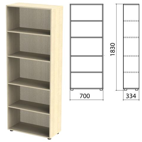 Шкаф (стеллаж) «Канц» 700×330×1830 мм, 4 полки, цвет дуб молочный