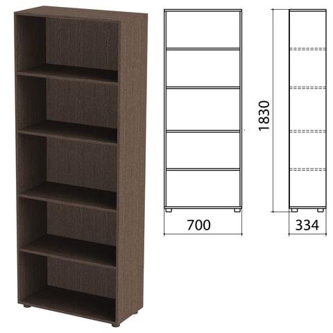Шкаф (стеллаж) «Канц» 700×330×1830 мм, 4 полки, цвет венге