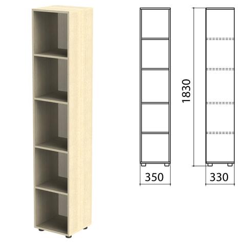 Шкаф (стеллаж) «Канц» 350×330×1830 мм, 4 полки, цвет дуб молочный