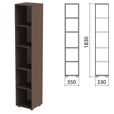 Шкаф (стеллаж) «Канц» 350×330×1830 мм, 4 полки, цвет венге