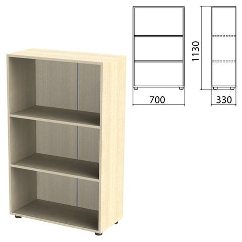 Шкаф (стеллаж) «Канц» 700×330×1130 мм, 2 полки, цвет дуб молочный