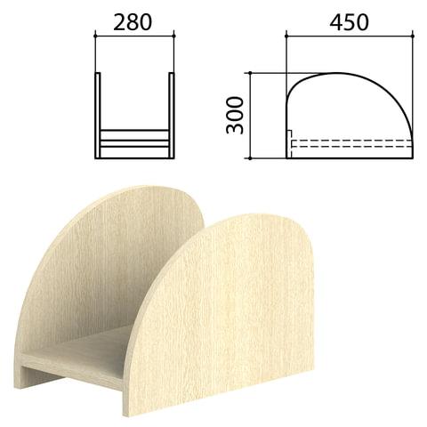 Подставка под системный блок «Канц», цвет дуб молочный