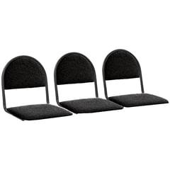 Сиденья для кресла «Квинт», комплект 3 шт., ткань черная, каркас черный