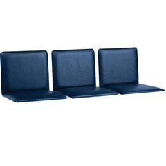 Сиденья для кресла «Терра», комплект 3 шт., кожзам синий, каркас серебристый