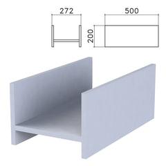 Подставка под системный блок «Бюджет», 272×500×200 мм, серая
