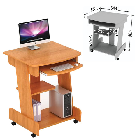 Стол компьютерный СК-01.1, 644х532х805 мм, ЛДСП, цвет бук