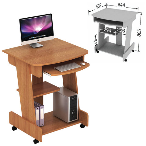 Стол компьютерный СК-01.3, 644х532х805 мм, ЛДСП, цвет орех