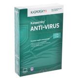 Антивирус KASPERSKY «Anti-Virus», лицензия на 2 ПК, 1 год, бокс