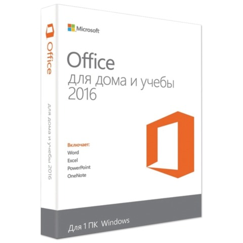 Программный продукт «MICROSOFT Office Home and Student 2016», Russia Only, Medialess