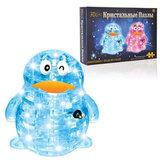 Игрушка развивающая 3D Crystal Puzzle «Пингвин», светильник, XL, 62 элемента, цвет ассорти