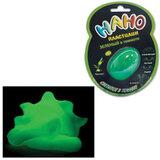 Игрушка релаксирующая Nano-Пластилин, светящаяся, зеленая