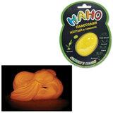 Игрушка релаксирующая Nano-Пластилин, светящаяся, желтая