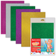 Цветная пористая резина для творчества (пенка в листах), А4, 210×297 мм, BRAUBERG (БРАУБЕРГ), 5 листов, 5 цветов, с блёстками