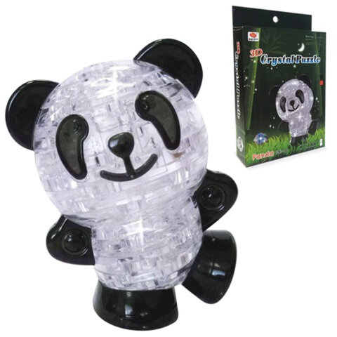 Игрушка развивающая 3D Crystal Puzzle «Панда», светильник, L, 53 элемента