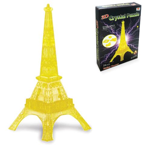 Игрушка развивающая 3D Crystal Puzzle «Эйфелева Башня», светильник, L, 24 элемента