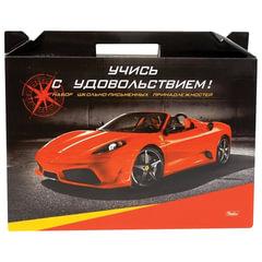 Набор для первоклассника в подарочной упаковке HATBER «Автомобили», Нп4 05321