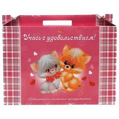 Набор для первоклассника в подарочной упаковке HATBER «Пушистики», Нп4 00060
