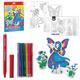 Набор для творчества ERICH KRAUSE Artberry «Фея Луны»: 6 фломастеров+2 карты с фигурами для сборки