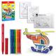 Набор для творчества ERICH KRAUSE Artberry «Вертолет»: 6 фломастеров+2 карты с фигурами для сборки