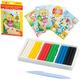 Набор для творчества ЛУЧ «Пластилиновая мозаика №4»: пластилин мягкий 6 цветов, стек, 4 рисунка-шаблона