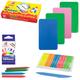 Набор для творчества ЛУЧ «Животные»: восковые карандаши 6 цветов, пластилин 5 цветов, стек, 6 трафаретов, буклет