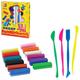 Набор для творчества ЛУЧ «Кроха»: пластилин 12 цветов, 4 цветных стека