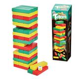 Игра настольная Башня «Торре», окрашенные деревянные блоки, «Десятое королевство»