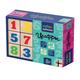 """Набор для детей «Кубики деревянные »Цифры"""", 12 шт., 4×4×4 см, цветные цифры на неокрашенных кубиках, «Десятое королевство»"""