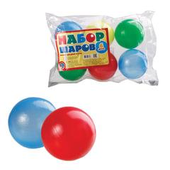 Шары пластиковые игровые, 6 шт., диаметр 65 мм, цветные, «Десятое королевство»