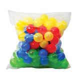 Шары пластиковые для сухого бассейна, 100 шт., диаметр 65 мм, цветные, «Десятое королевство»