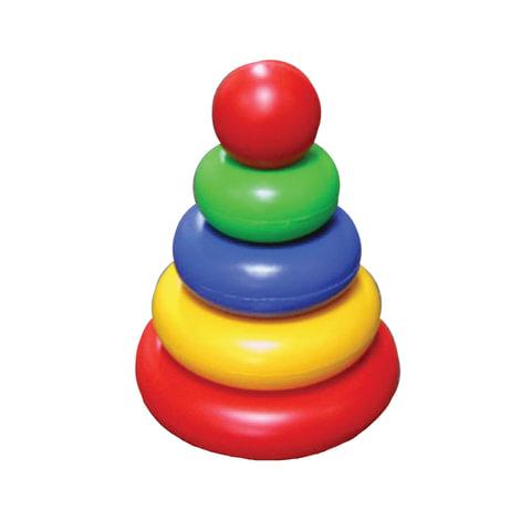Пирамидка пластиковая «Малышок», 5 элементов (4 кольца, шар), цветная, «Десятое королевство»