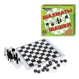 Игра 2 в 1 «Шахматы и шашки», 21×19 см, «Десятое королевство»