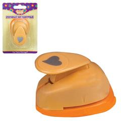 Дырокол для творчества «Сердечко», диаметр фигуры 16 мм, желтый, ACTION