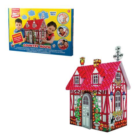 """Домик игровой для раскрашивания ERICH KRAUSE Artberry """"Дачный домик"""", картонный, 48х33х21 см"""