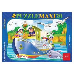 Пазл MAXI, 20 элементов, А5, «Кораблик», 165×230 мм, 20ПЗ5 09338