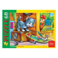 Пазл MINI, 60 элементов, А5, «Котенок и мышонок», 165×230 мм, 60ПЗ5 11632